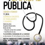 Asamblea en el Hospital Infanta Sofía y llamamiento a la unidad